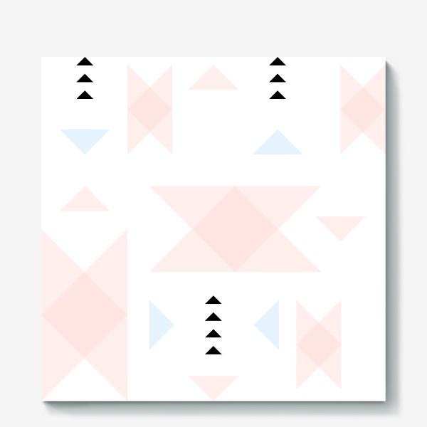 Холст «Нежный паттерн из треугольников.»