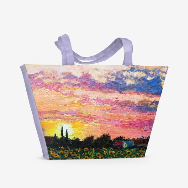 Пляжная сумка «Летний пейзаж »