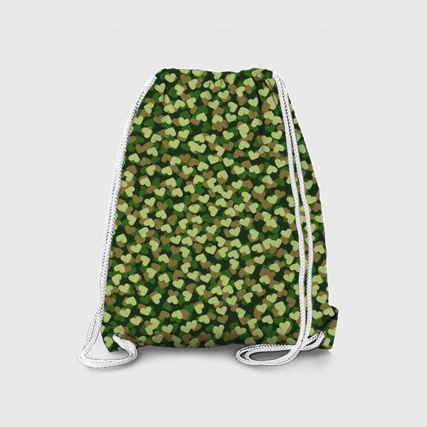 Рюкзак «сердечный камуфляж »