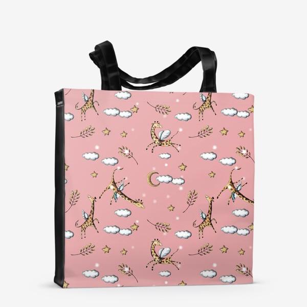 Сумка-шоппер «Жирафы в облаках»