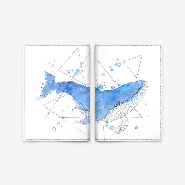 Обложка для паспорта «небесный кит»