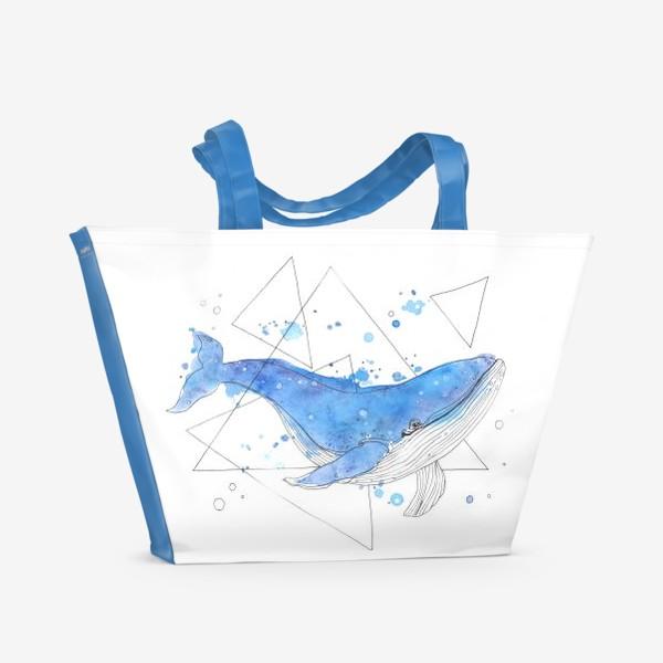 Пляжная сумка «небесный кит»