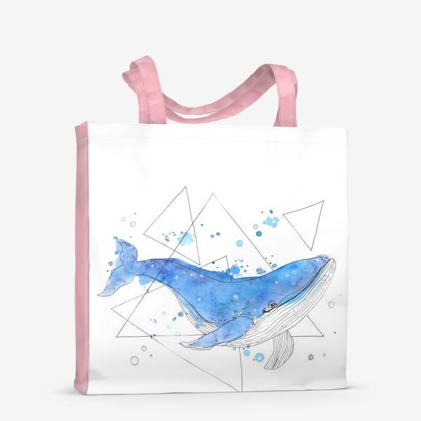 Сумка-шоппер «небесный кит»