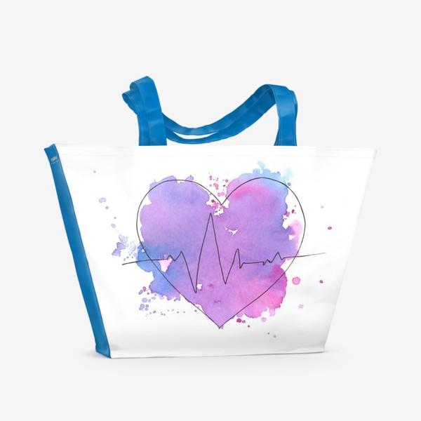 Пляжная сумка «краски сердца»