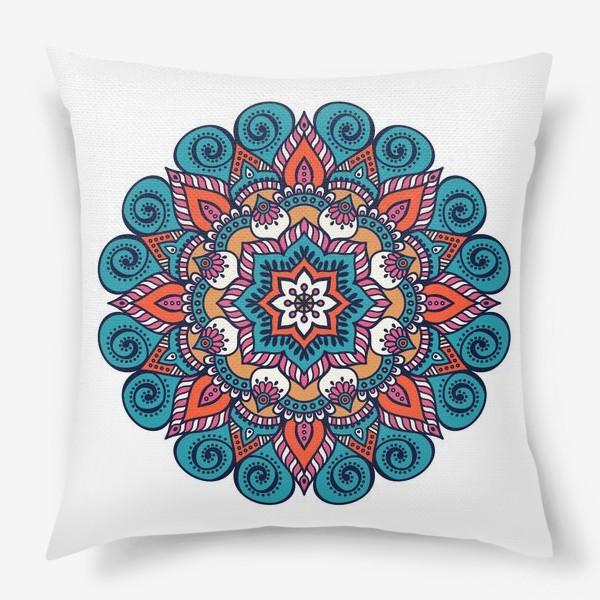 Подушка «Blue Mandala »