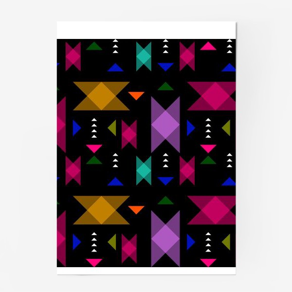 Постер «Яркий геометрический паттерн.»