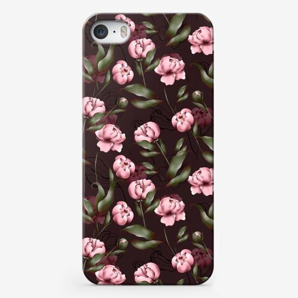 Чехол iPhone «Розовые пионы»