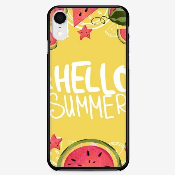 Чехол iPhone «Привет лето. Арбузные дольки»
