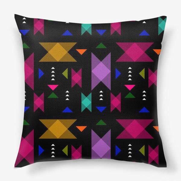 Подушка «Яркий геометрический паттерн.»
