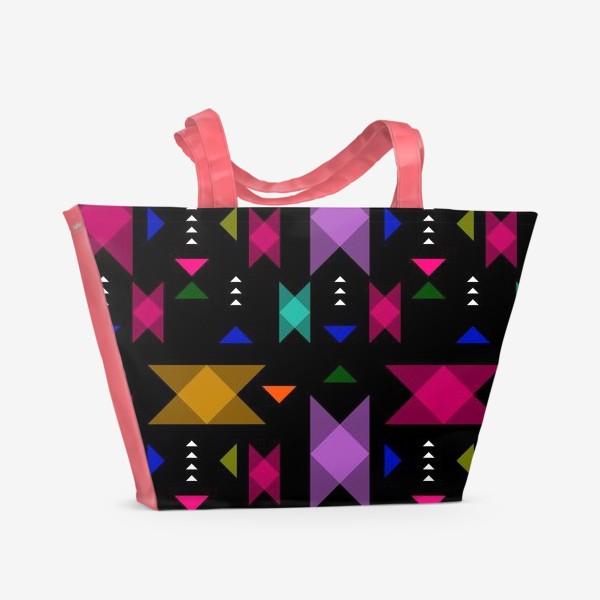 Пляжная сумка «Яркий геометрический паттерн.»