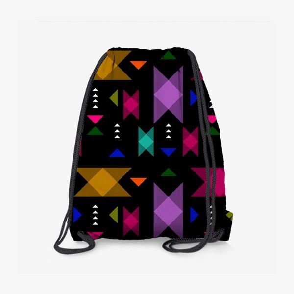 Рюкзак «Яркий геометрический паттерн.»