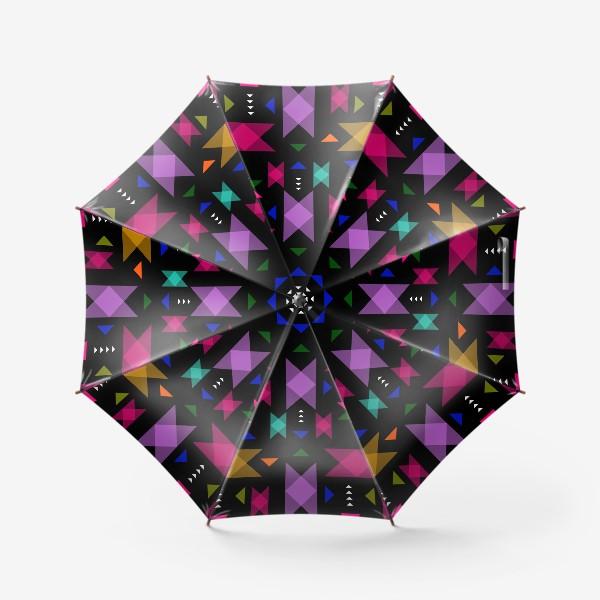 Зонт «Яркий геометрический паттерн.»