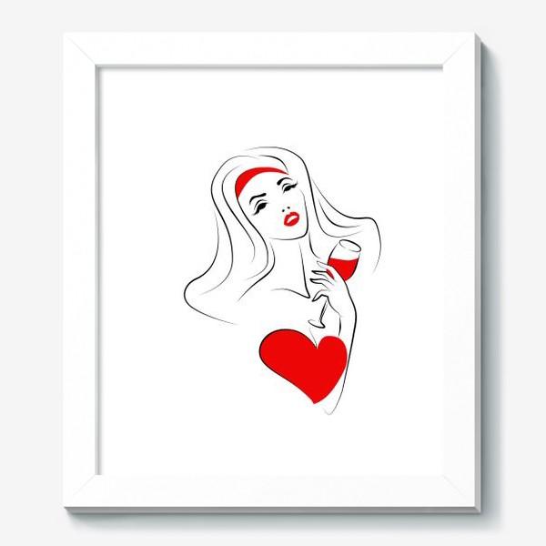 Картина «Леди с бокалом вина»