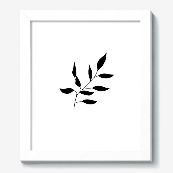 Картина «Силуэт листьев»