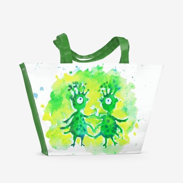 Пляжная сумка «Инопланетяне»
