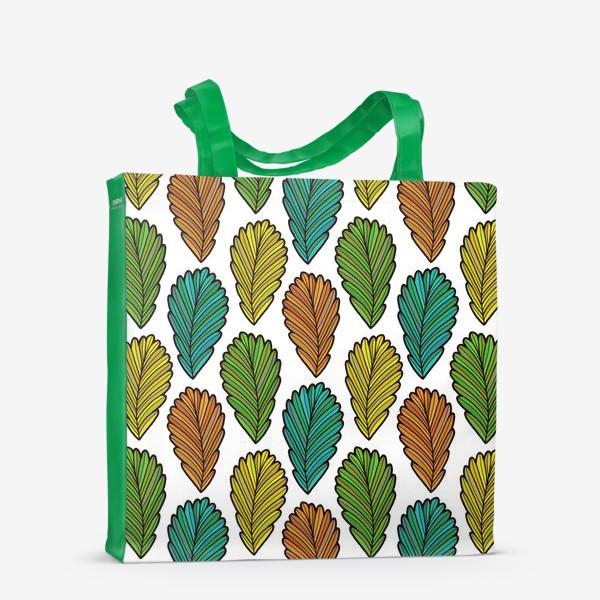 Сумка-шоппер «Осенняя листва. Разноцветные листья»