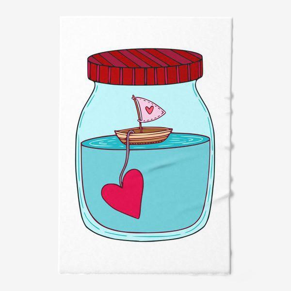 Полотенце «Любовь, корабль и море»