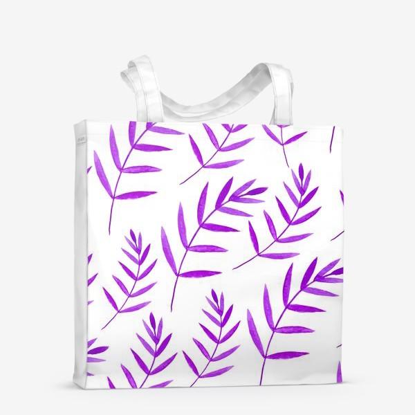 Сумка-шоппер «Сиреневые тропические листья»