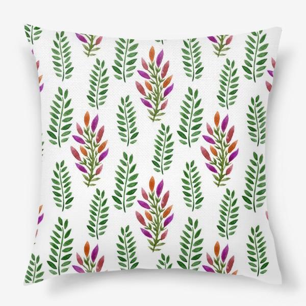 Подушка «Тропическая магия листьев»