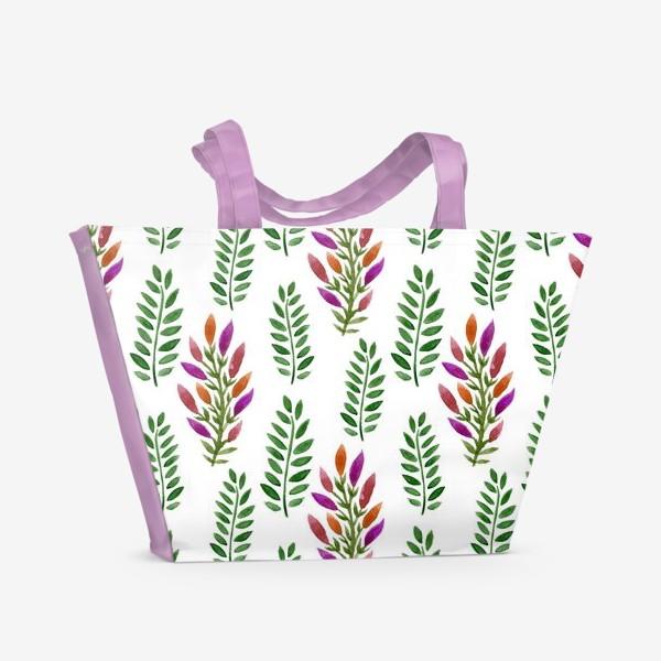 Пляжная сумка «Тропическая магия листьев»