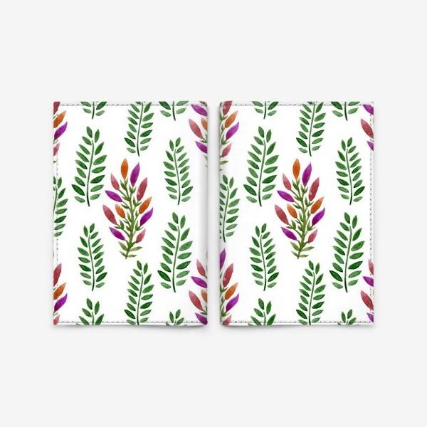 Обложка для паспорта «Тропическая магия листьев»