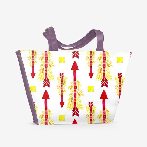 Пляжная сумка «Огненные стрелы энергии»