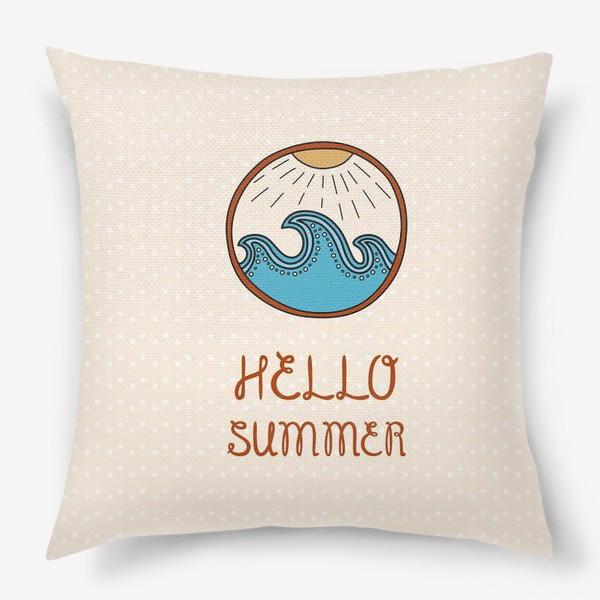 Подушка «Hello summer_4»