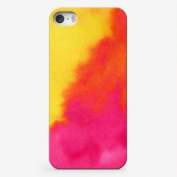 Чехол iPhone «Жаркая душа лета. Акварель»