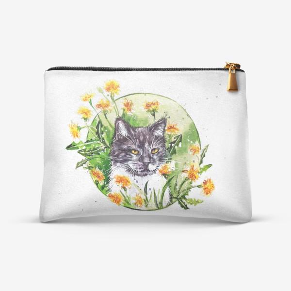 Косметичка « кот в одуванчиках»