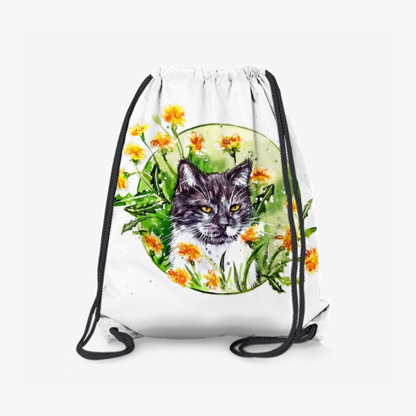 Рюкзак « кот в одуванчиках»