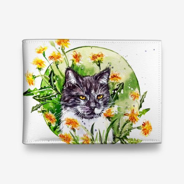 Кошелек « кот в одуванчиках»