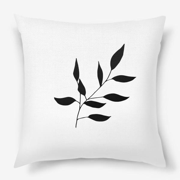 Подушка «Силуэт листьев»