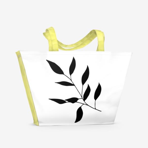 Пляжная сумка «Силуэт листьев»