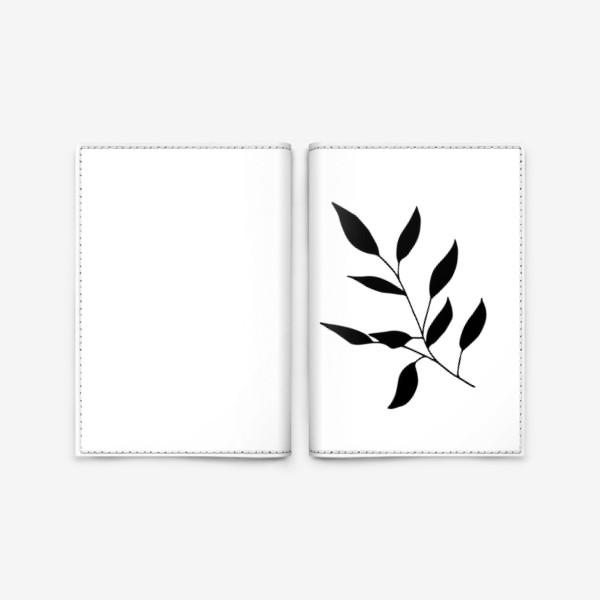 Обложка для паспорта «Силуэт листьев»