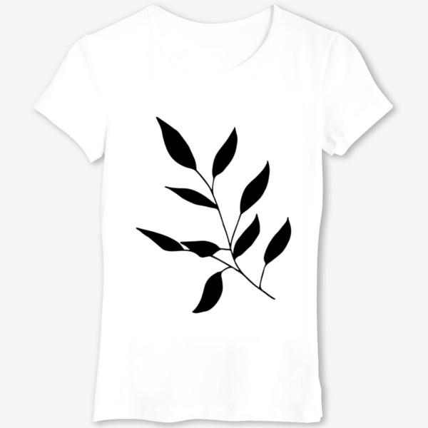 Футболка «Силуэт листьев»