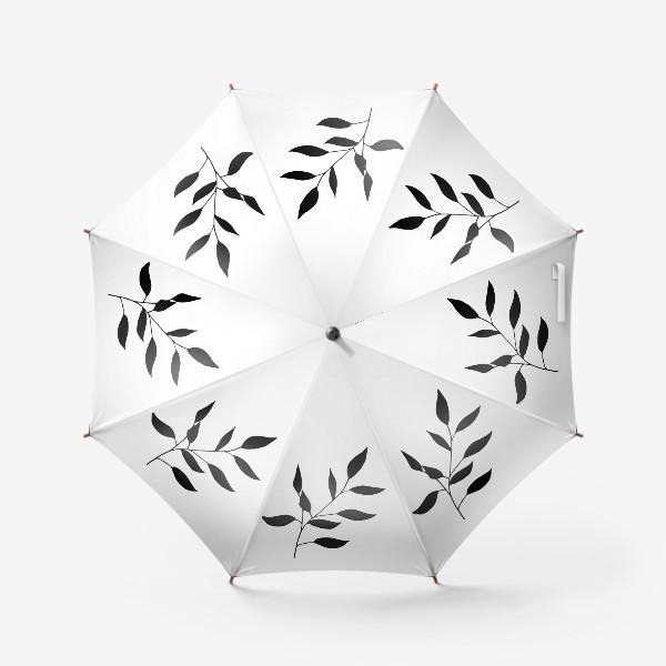 Зонт «Силуэт листьев»