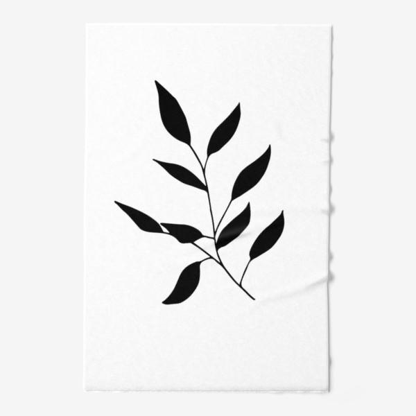 Полотенце «Силуэт листьев»