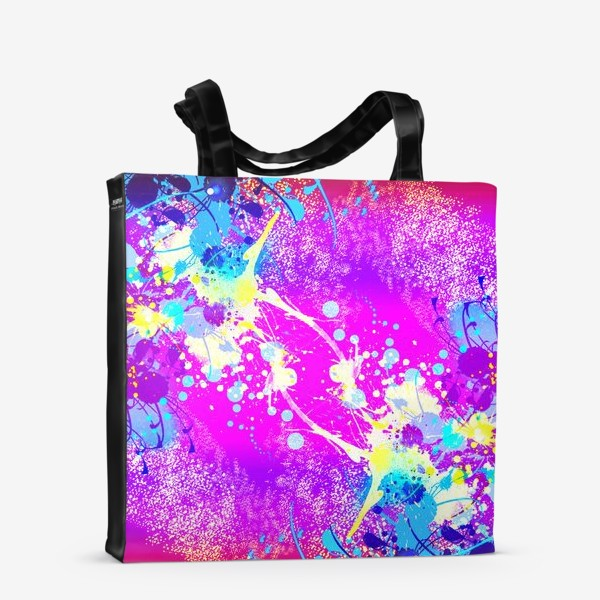 Сумка-шоппер «Пятна краски на розовом фоне»
