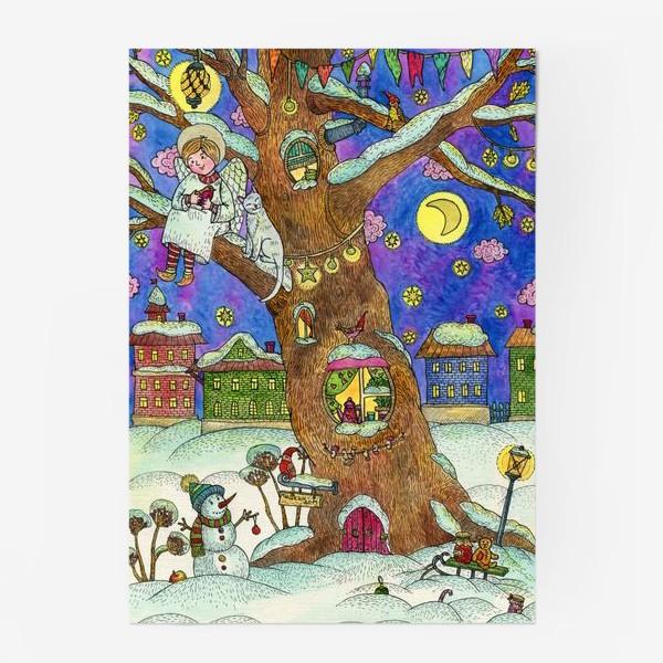 Постер «С Новым годом и Рождеством!  Добрый ангел»