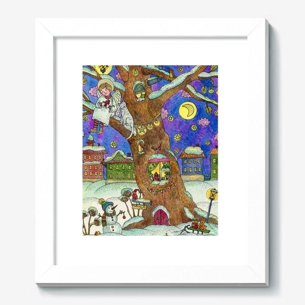 Картина «С Новым годом и Рождеством!  Добрый ангел»