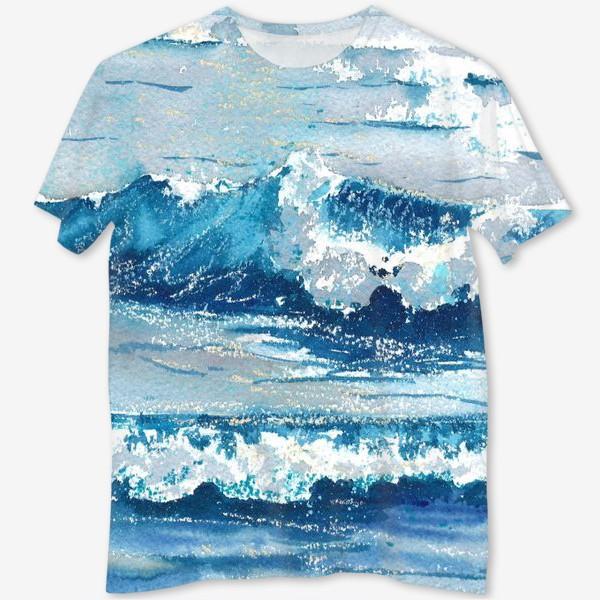 Футболка с полной запечаткой «Море. волны»