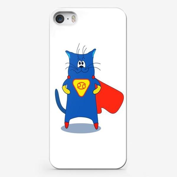 Чехол iPhone «Кот Рак. Подарок для Рака. Знак зодиака Рак»
