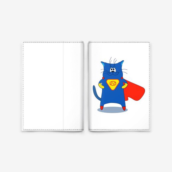 Обложка для паспорта «Кот Рак. Подарок для Рака. Знак зодиака Рак»