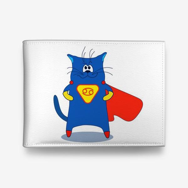 Кошелек «Кот Рак. Подарок для Рака. Знак зодиака Рак»