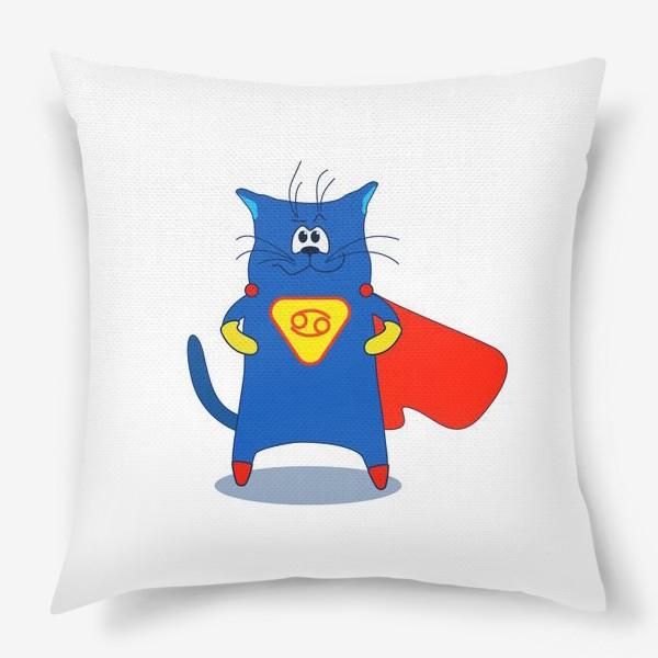 Подушка «Кот Рак. Подарок для Рака. Знак зодиака Рак»