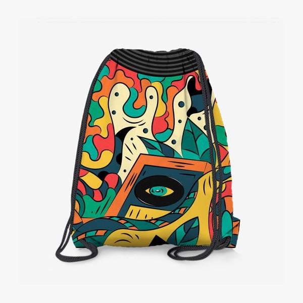 Рюкзак «Музыка в стиле ретро»