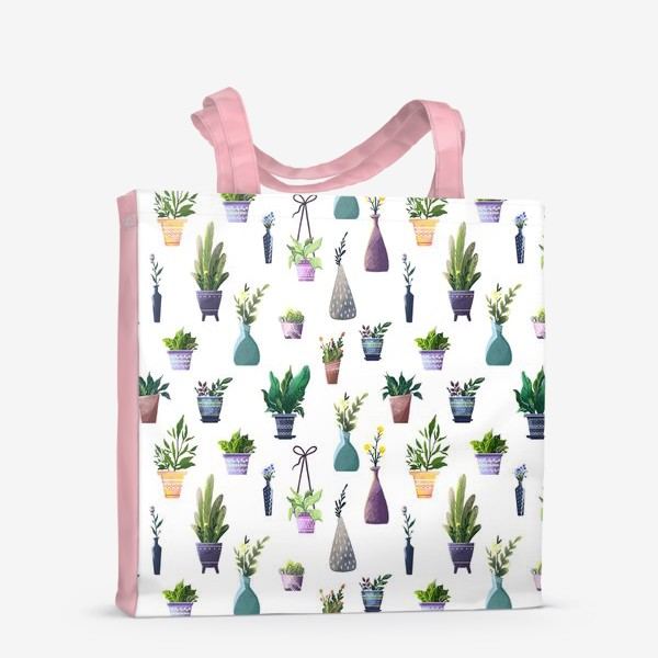 Сумка-шоппер «Летний паттерн с растениями»