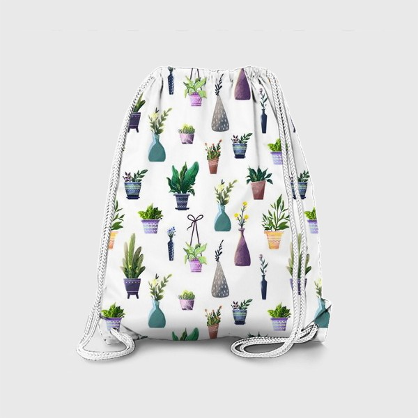 Рюкзак «Летний паттерн с растениями»