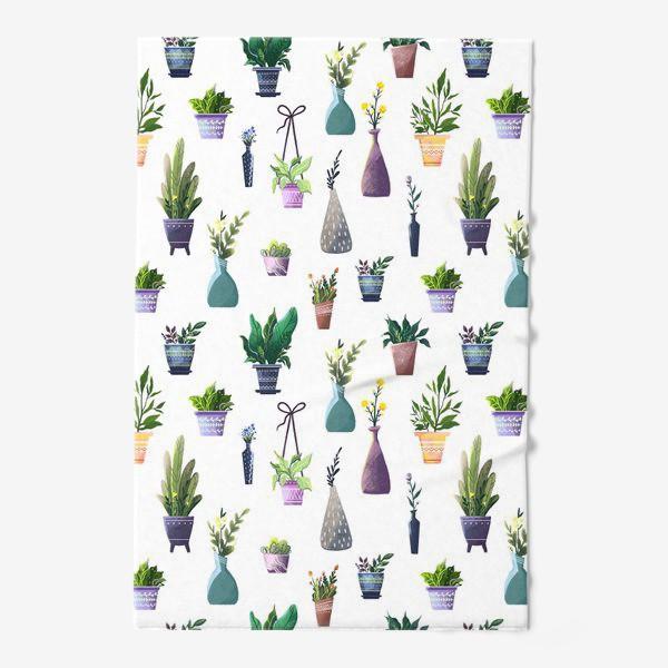 Полотенце «Летний паттерн с растениями»