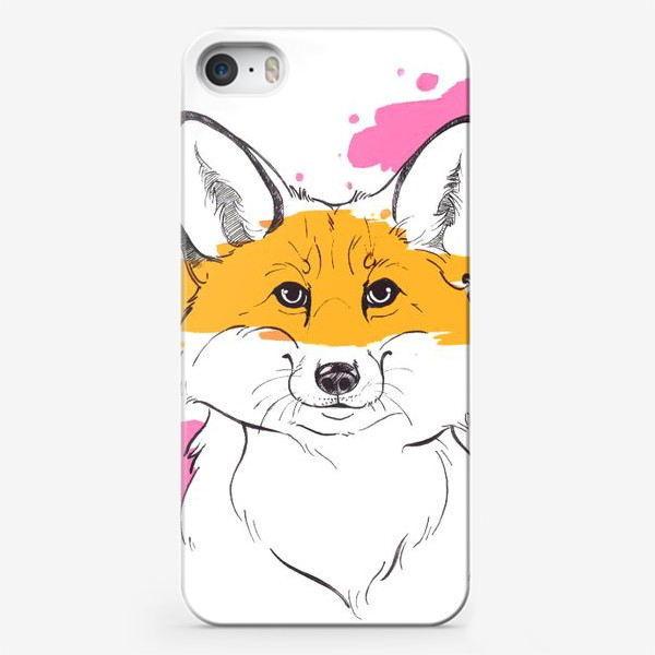Чехол iPhone «лисица индейка»
